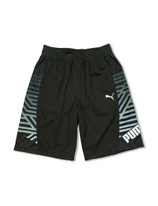 Puma® Black Side Striped Shorts – Boys 8-20