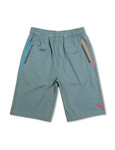 Puma Active Grey Jersey Shorts – Boys 8-20