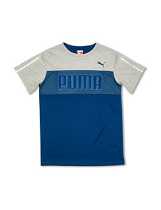 Puma Color Block Logo T-shirt – Boys 8-20
