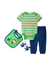 Baby Gear 4-pc. Pirate Monkey Bodysuit Set – Baby 0-9 Mos.