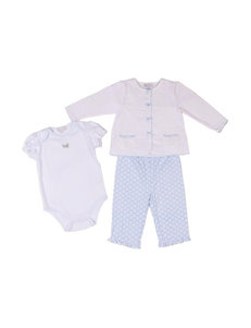 Quiltex 3-pc. Butterfly Bodysuit & Bow Jacket Set – Baby 0-9 Mos.