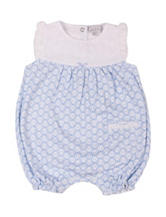 Quiltex Butterfly Print Romper – Baby 0-9 Mos.