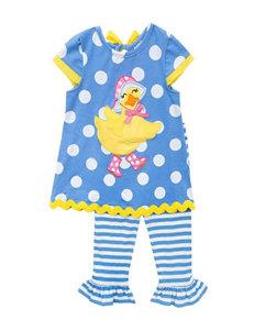 Rare Editions 2-pc. Duck Top & Stripe Print Leggings Set - Toddler