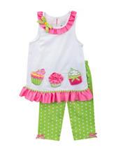 Rare Editions 2-pc. Cupcake Dot Leggings Set – Toddler Girls