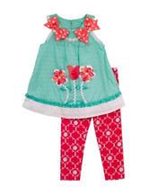 Rare Editions 2-pc. Tulip Legging Set – Toddler Girls
