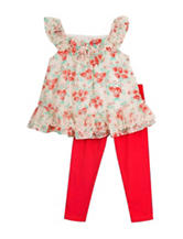 Rare Editions 2-pc. Floral Legging Set – Toddler Girls