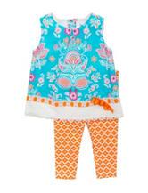 Rare Editions 2-pc. Twin Print Legging Set – Toddler Girls