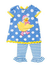 Rare Editions 2-pc. Duck Appliqué Knit Set – Girls 4-6x