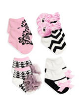 Baby Essentials 4-pk. Damask Sock Set