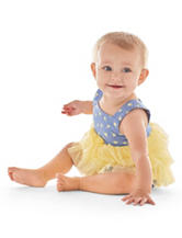 Little Lass 2-pc. Chambray Diaper Cover Set – Baby 3-9 Mos.
