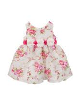 Rare Editions Fuchsia & White Rose Print Dress – Baby 12-24 Mos.