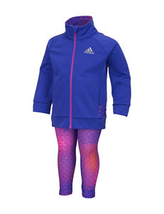 adidas 2-pc. Solid Color Purple Triaxial Tricot Set – Baby 12-24 Mos.