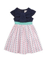Rare Editions Solid Color Navy Dress – Toddler Girls