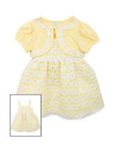 Rare Editions 2-pc. Solid Color Yellow Dress – Girls 2-6x