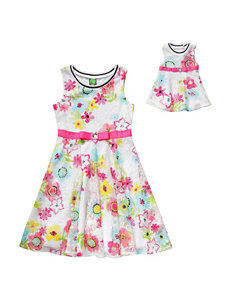 Dollie & Me 2-pc. Floral Print Dress – Girls 4-16
