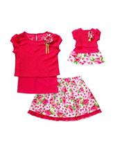 Dollie & Me Rosette Top and Skirt Set – Girls 4-14