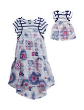 Dollie & Me 2-pc. Floral Print Tank Dress – Girls 4-14