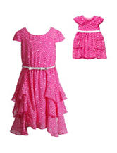Dollie & Me Polka Dot Print Dress – Girls 4-14