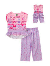 Dollie & Me 2-pc. Ballerina PJ Set – Girls 2-6x