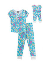 Dollie & Me 2-pc. Butterfly Snug Fit PJ Set – Girls 4-14