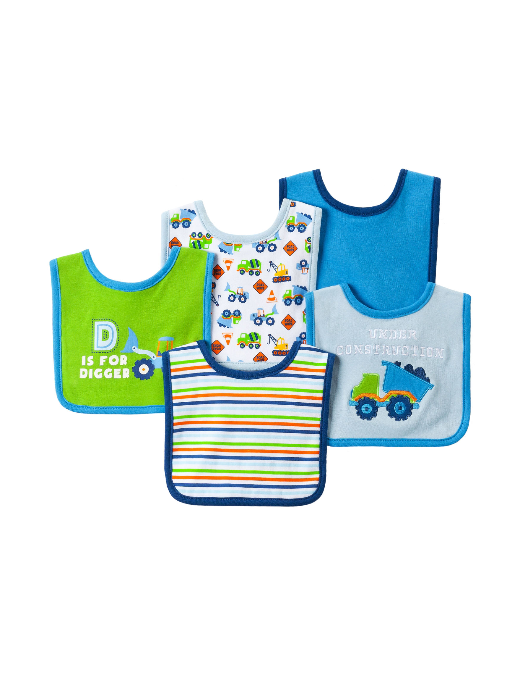 Baby Gear Blue Bibs & Burp Cloths