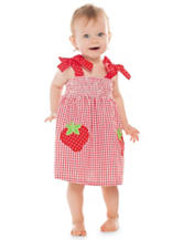 Rare Editions 2-pc. Strawberry Gingham Polka Dot Sundress Set – Baby 6-24 Mos.