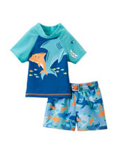 Shark 2-pc. Blue Rashgard Swim Set – Baby 3-9 Mos.