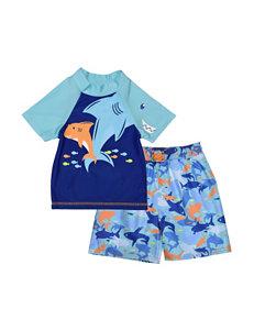 Shark 2-pc. Blue Rashgard Set – Baby 12-24 Mos.