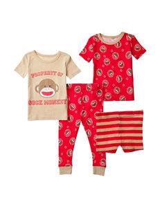 Candlesticks 4-pc. Sock Monkey Pajama Set – Baby 12-24 Mos.