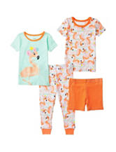 Candlesticks 4-pc. Pretty Flamingo Pajama Set – Baby 12-24 Mos.