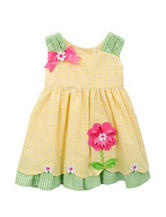 Rare Editions Yellow Seersucker Dress - Baby 12-24