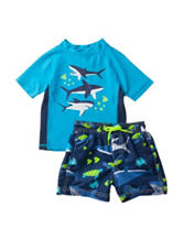 Carter's® 2-pc. Shark Rashguard & Swim Trunks Set – Baby 12-24 Mos.