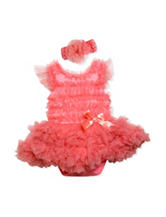 Baby Essentials 2-pc. Coral Tutu Dress & Headband Set – Baby 3-9 Mos.