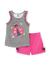 Kid's Headquarters 2-pc. Striped Lady Bug Top & Shorts Set – Baby 12-24 Mos.