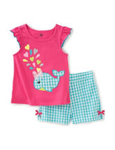 Kids Headquarters 2-pc. Gingham Whale Top & Shorts Set – Baby 12-24 Mos.