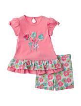 Baby Gear 2-pc. Multicolor Flower Top & Leggings Set – Baby 12-24 Mos.