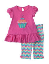 Baby Gear 2-pc. Multicolor Cupcake Top & Leggings Set – Baby 12-24 Mos.