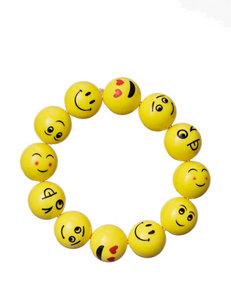 On the Verge Emoji Beaded Stretch Bracelet