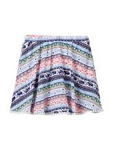 My Michelle Multicolored Aztec Print Skater Skirt – Girls 7-16