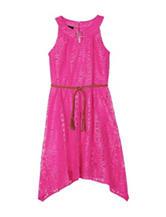 A. Byer Belted Geo Lace Dress – Girls 7-16