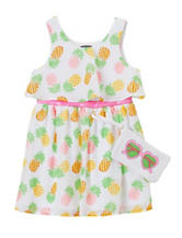 Pogo Club Dress with Sunglass Purse – Girls 2-6x