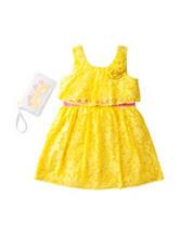 Pogo Club Yellow Lace Dress with Sunglass Purse – Girls 2-6x