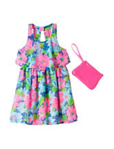 Pogo Club Multicolored Floral Dress – Girls 4-6x