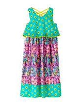 Pogo Club Twin Print Maxi Dress – Girls 4-6x