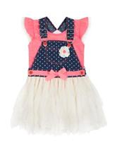 Little Lass 2-pc. Coral Top & Dress Set – Baby 12-24 Mos.