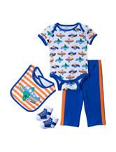 Baby Gear 4-pc. Airplane Print Bodysuit Set – Baby 0-9 Mos.