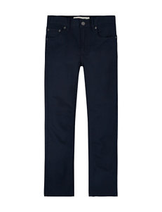Levi's® Solid Color Navy Knit Pants – Boys 8-20