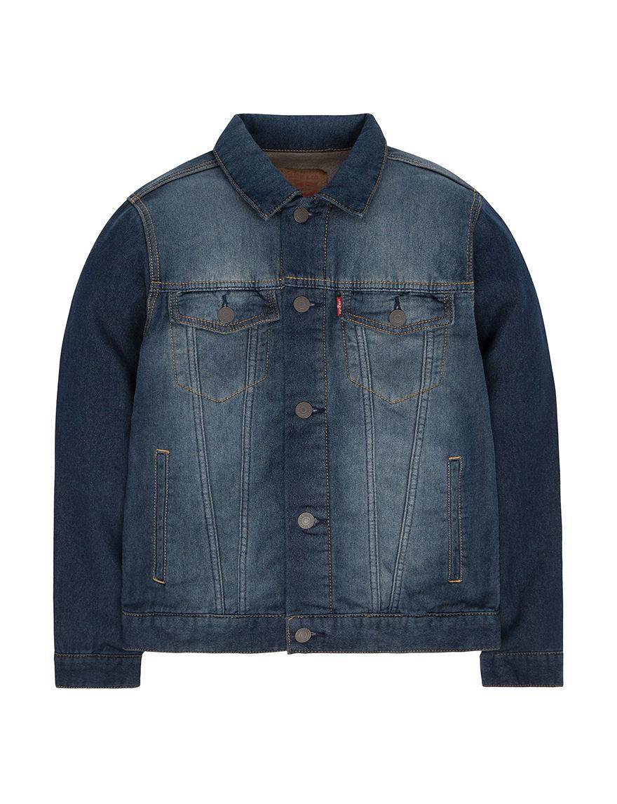 Levi's Dark Purple Fleece & Soft Shell Jackets