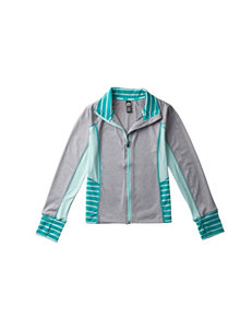 RBX Gray & Mint Color Block Jersey Jacket – Girls 7-16
