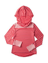 RBX Coral Icing Striped Jersey Hooded Top – Girls 7-16